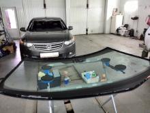 Honda accord лобовое стекло